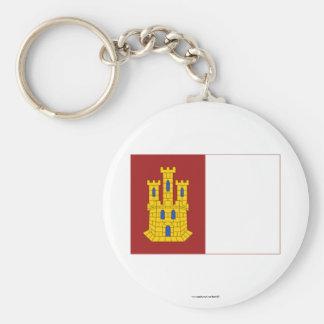 Bandera de Mancha del Castilla-La Llavero Redondo Tipo Pin
