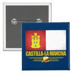 Bandera de Mancha del Castilla-La Pin Cuadrada 5 Cm