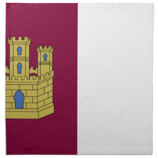 Bandera de Mancha del La de Castilla (España) Servilleta De Papel