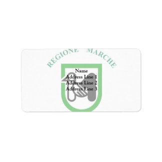 Bandera de Marche, Italia Etiquetas De Dirección