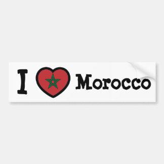 Bandera de Marruecos Pegatina Para Auto
