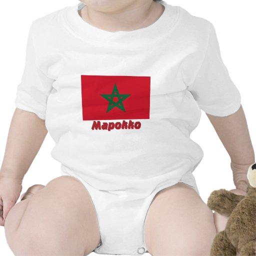 Bandera de Marruecos con nombre en ruso Trajes De Bebé