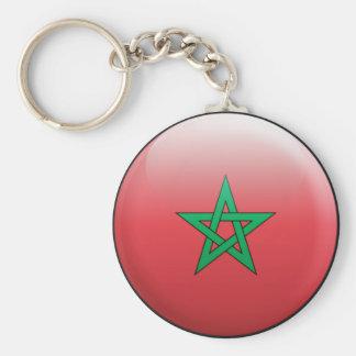 Bandera de Marruecos Llavero Redondo Tipo Pin