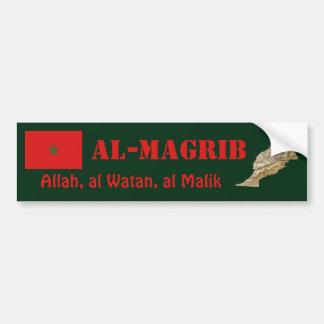 Bandera de Marruecos + Pegatina para el parachoque Pegatina De Parachoque