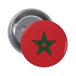 Bandera de Marruecos Pin Redondo De 2 Pulgadas