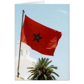 bandera de Marruecos Tarjeta De Felicitación