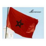 bandera de Marruecos Tarjetas Postales