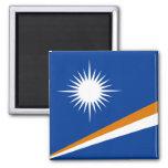Bandera de Marshall Islands Imán Cuadrado