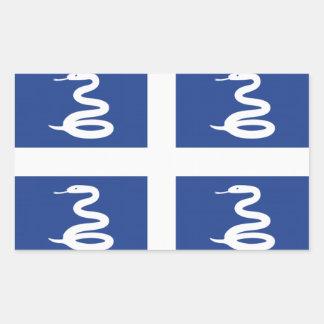 Bandera de Martinica Pegatina Rectangular