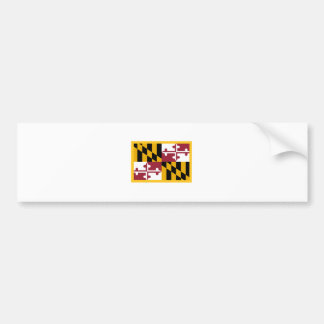 Bandera de Maryland del borde del oro Pegatina Para Auto