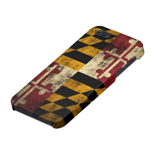 Bandera de Maryland del Grunge iPhone 5 Carcasas