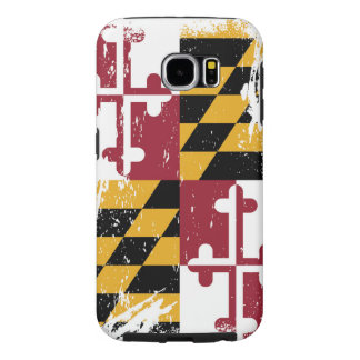 Bandera de Maryland del Grunge Fundas Samsung Galaxy S6