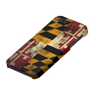 Bandera de Maryland del Grunge iPhone 5 Carcasas