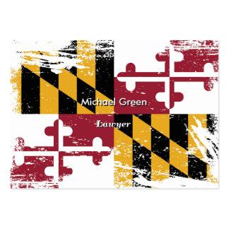 Bandera de Maryland del Grunge Tarjetas De Visita Grandes
