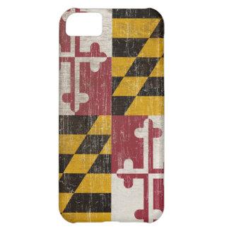 Bandera de Maryland del vintage Funda Para iPhone 5C