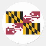 Bandera de Maryland Etiquetas Redondas