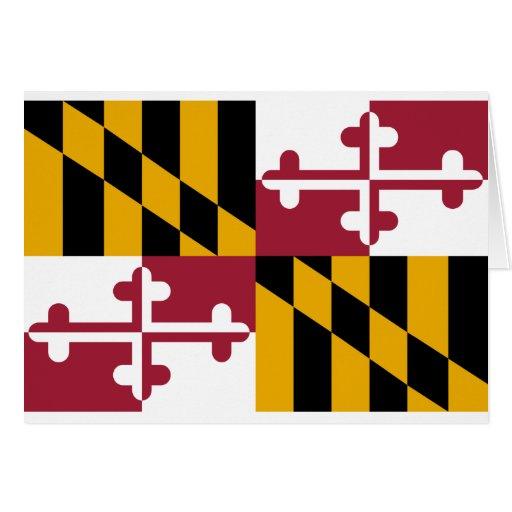 Bandera de Maryland Felicitacion