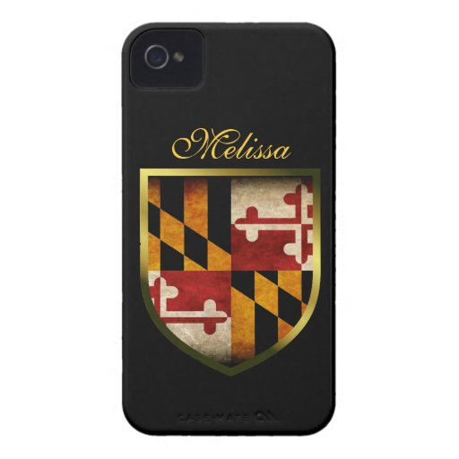 Bandera de Maryland iPhone 4 Case-Mate Protector