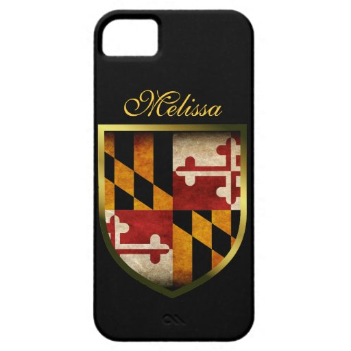 Bandera de Maryland iPhone 5 Carcasa