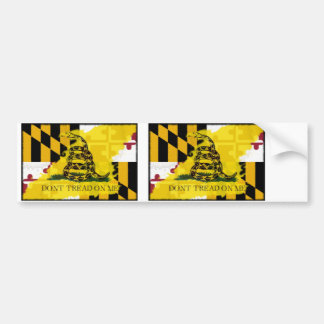 Bandera de Maryland Gadsden Pegatina Para Auto