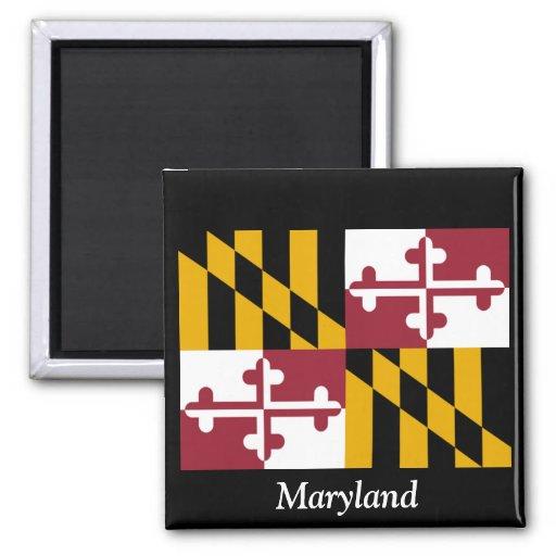 Bandera de Maryland Imán Cuadrado