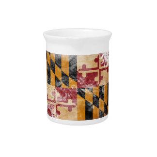Bandera de Maryland Jarra De Beber