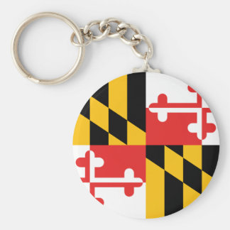 Bandera de Maryland Llavero Redondo Tipo Pin