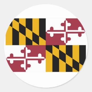 Bandera de Maryland Pegatina Redonda