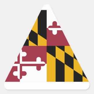 Bandera de Maryland Pegatina Triangular