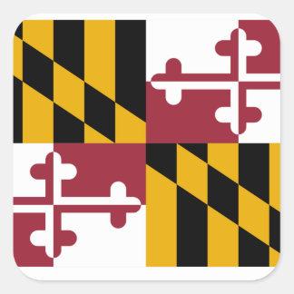 Bandera de Maryland Pegatina Cuadrada
