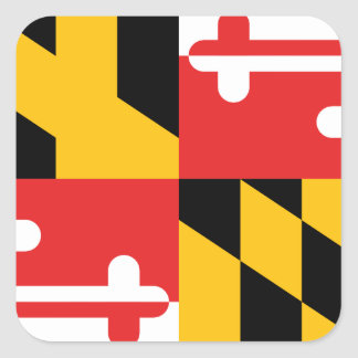Bandera de Maryland Calcomania Cuadradas Personalizadas