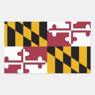 Bandera de Maryland Pegatina Rectangular