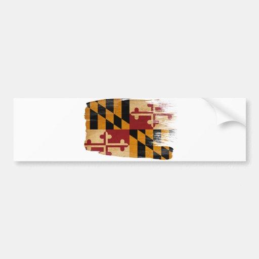 Bandera de Maryland Pegatina De Parachoque