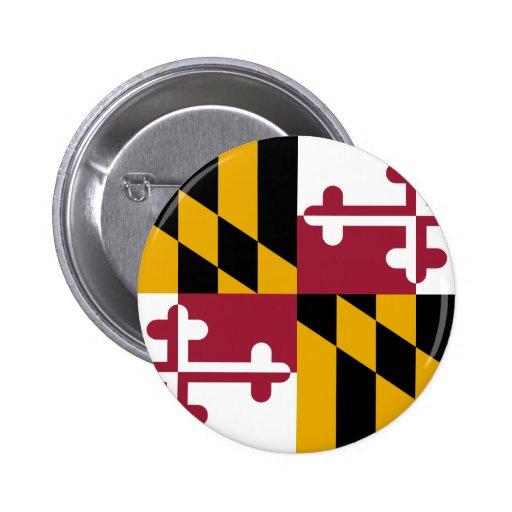 Bandera de Maryland Pin Redondo 5 Cm
