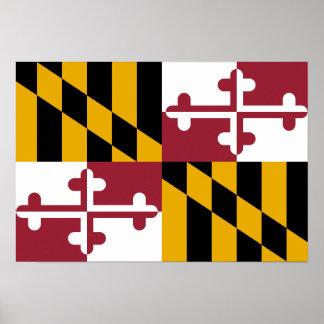 Bandera de Maryland Poster