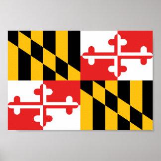 Bandera de Maryland Póster