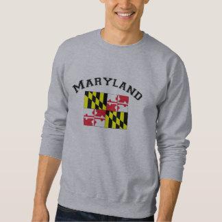 Bandera de Maryland Pulover Sudadera