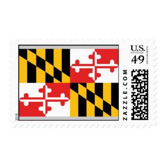Bandera de Maryland Sello Postal