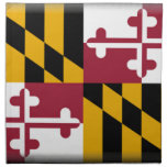 Bandera de Maryland Servilletas Imprimidas