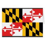 Bandera de Maryland Tarjeta