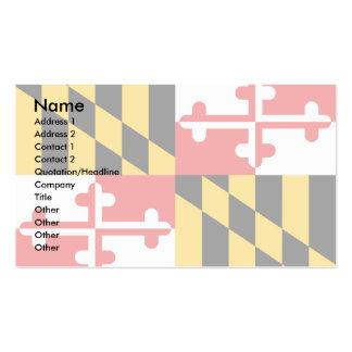 Bandera de Maryland Tarjetas De Visita