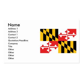 Bandera de Maryland Plantillas De Tarjeta De Negocio
