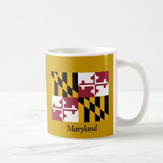 Bandera de Maryland Taza Básica Blanca
