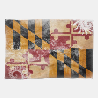 Bandera de Maryland Toalla De Mano