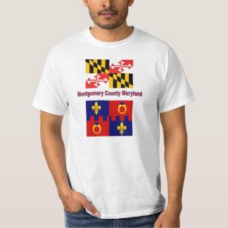 Bandera de Maryland y camiseta de la bandera del Polera
