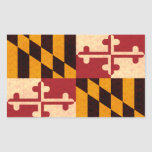 Bandera de Marylander del modelo del vintage Rectangular Pegatina