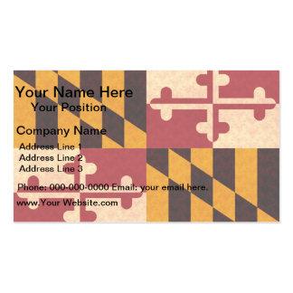 Bandera de Marylander del modelo del vintage Plantilla De Tarjeta De Negocio