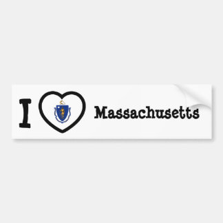 Bandera de Massachusetts Pegatina Para Auto