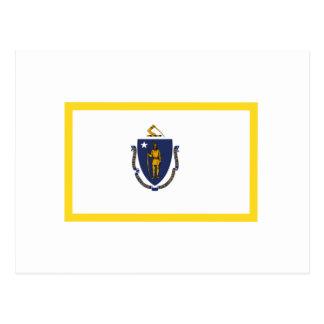 Bandera de Massachusetts del borde del oro Postal