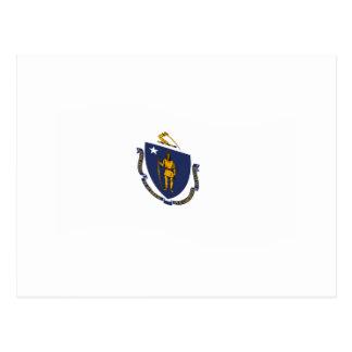Bandera de Massachusetts que agita Postales